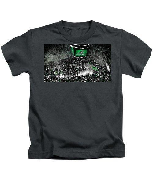 The Boston Celtics 2008 Nba Finals Kids T-Shirt by Brian Reaves