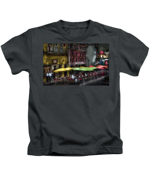 The Cafe At Night Kids T-Shirt