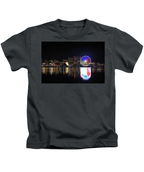 The Capital Wheel Over The Potomac Kids T-Shirt