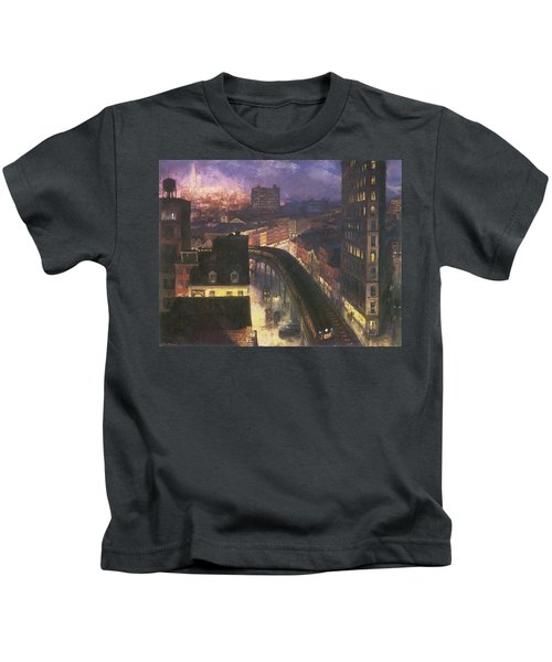 The City From Greenwich Village Kids T-Shirt
