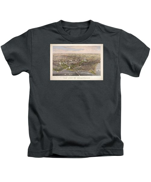 The City Of Washington Kids T-Shirt by Charles Richard Parsons