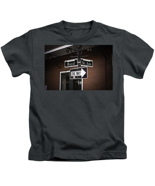 The Corner Of Royal And St. Ann, New Orleans, Louisiana Kids T-Shirt
