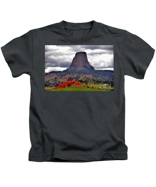 The Devils Tower Wy Kids T-Shirt