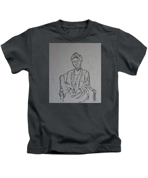 The Dowager Countess In Her Drawing Room At Dowton Abbey Kids T-Shirt