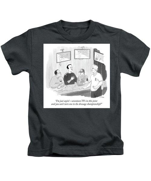 The Dressage Fan Kids T-Shirt
