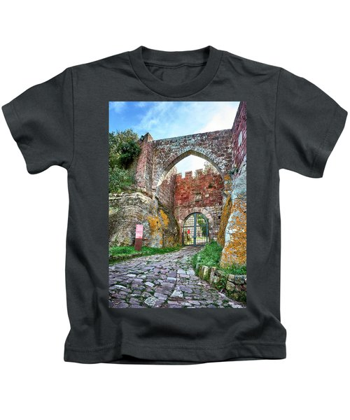 The Entrance To The Monastery Of Escornalbou Kids T-Shirt