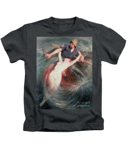The Fisherman And The Siren Kids T-Shirt