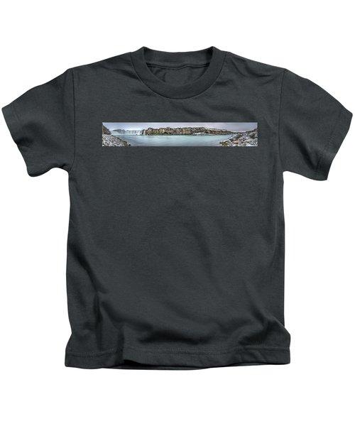 The Godafoss Falls Pano Kids T-Shirt