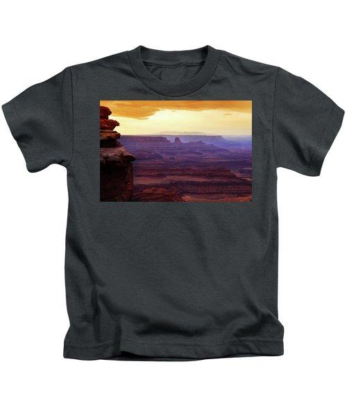 The Gold Light Of Dawn Kids T-Shirt