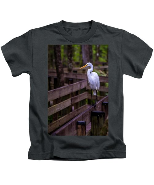 The Great Egret Kids T-Shirt