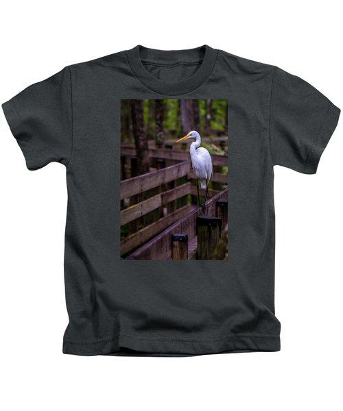 The Great Egret Kids T-Shirt