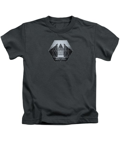 The Hotel Experimental Futuristic Architecture Photo Art In Modern Black And White Kids T-Shirt by Philipp Rietz
