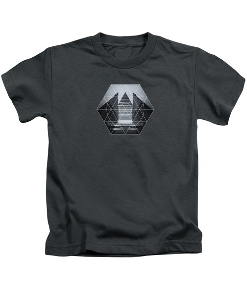 The Hotel Experimental Futuristic Architecture Photo Art In Modern Black And White Kids T-Shirt