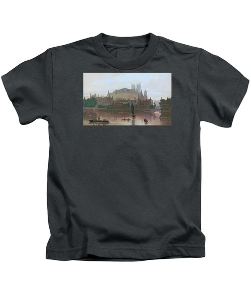 The Houses Of Parliament Kids T-Shirt by George Fennel Robson