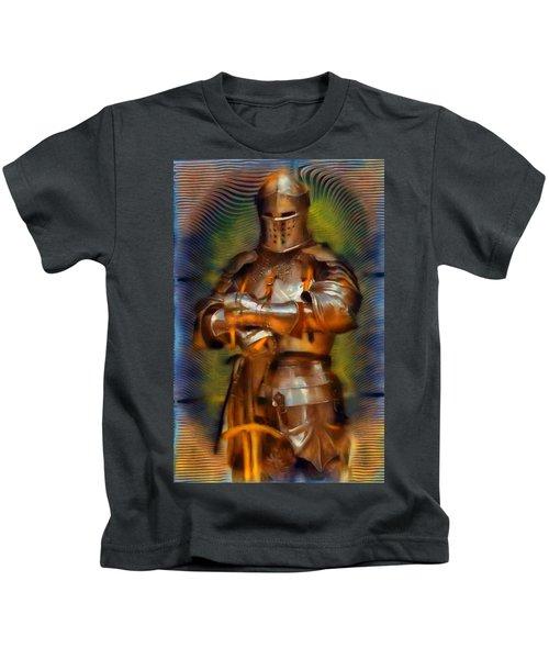 The Knight In Shining Armor Kids T-Shirt