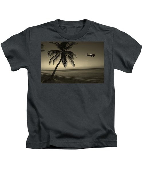 The Last Flight Out Kids T-Shirt