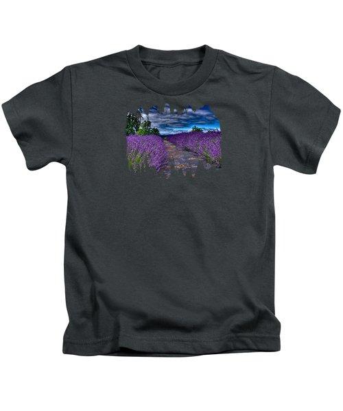 The Lavender Field Kids T-Shirt