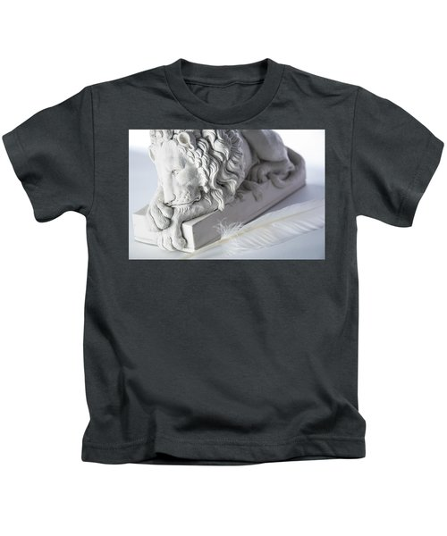 The Lion And The Feather Kids T-Shirt