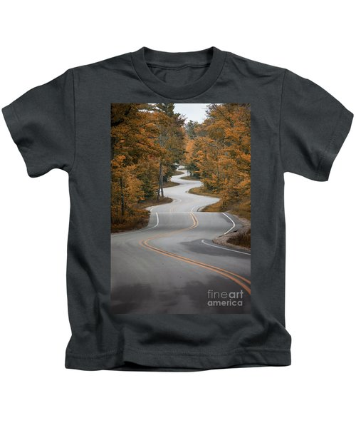 The Long Winding Road Kids T-Shirt