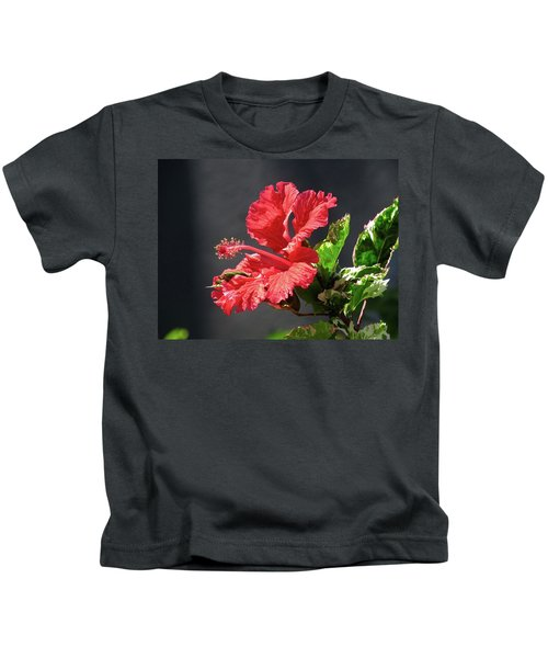 The Mallow Hibiscus Kids T-Shirt