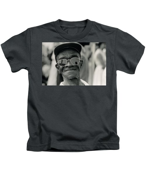 The March On Washington  A Smiling Man At Washington Monument Grounds Kids T-Shirt