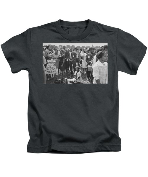 The March On Washington  Washington Monument Grounds Kids T-Shirt