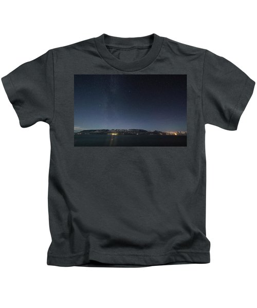 The Milky Way Over Northern Iceland Kids T-Shirt