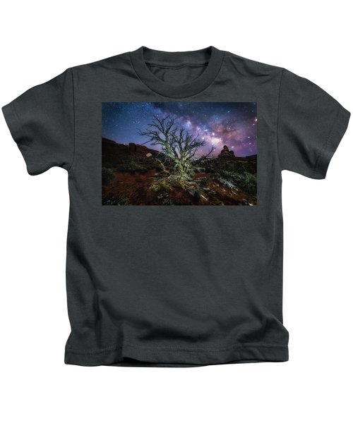 The Milky Way Tree Kids T-Shirt