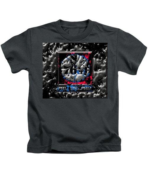 The Philadelphia 76ers Kids T-Shirt by Brian Reaves