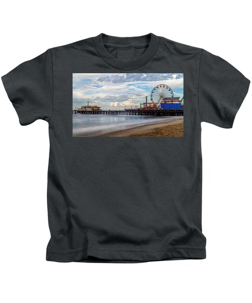 The Pier On A Cloudy Day Kids T-Shirt