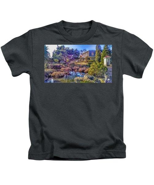 The Pond At Peddler's Village Kids T-Shirt