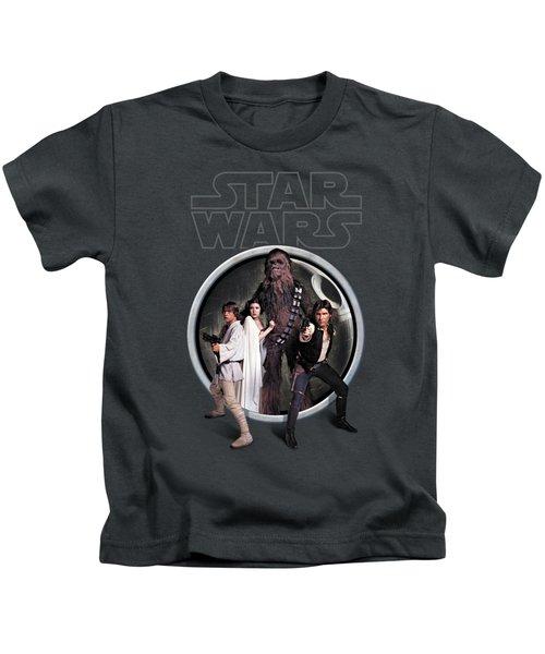 The Rebels Kids T-Shirt by Edward Draganski