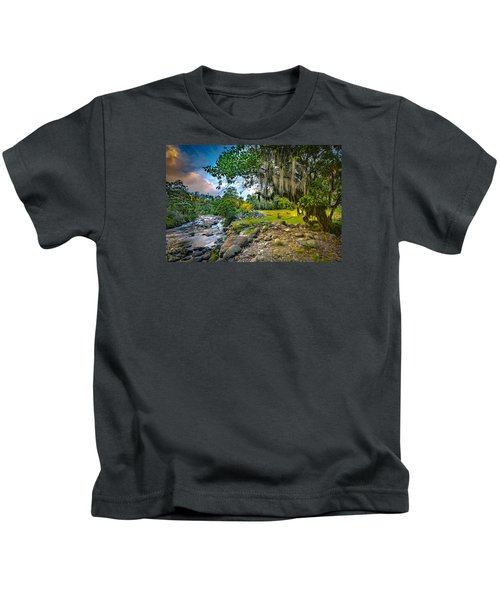 The River At Cocora Kids T-Shirt