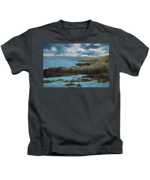 The Rocky Maine Coast. Kids T-Shirt