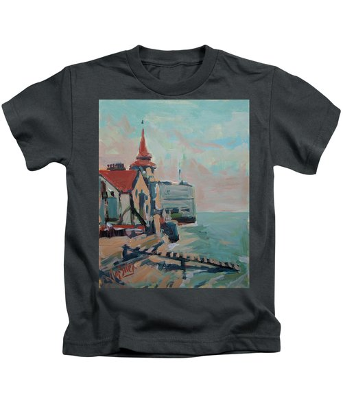 The Round Tower Of Portsmouth Kids T-Shirt