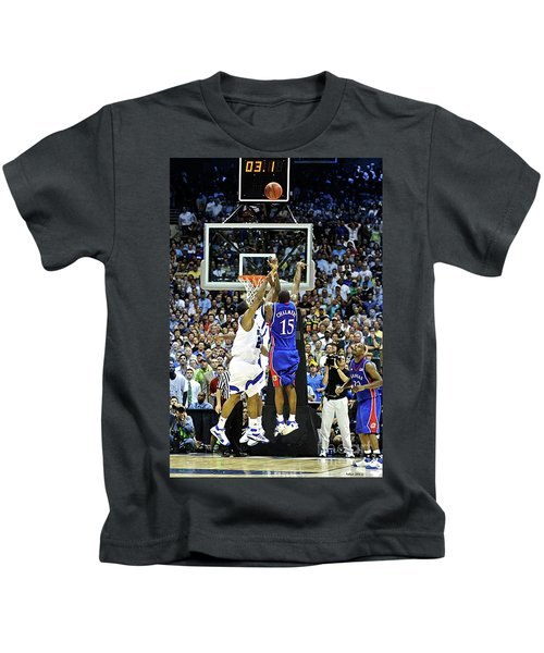 The Shot, 3.1 Seconds, Mario Chalmers Magic, Kansas Basketball 2008 Ncaa Championship Kids T-Shirt