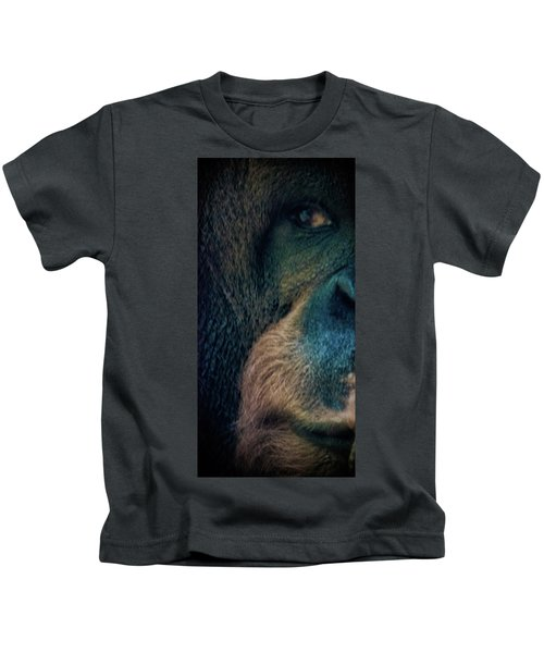 The Shy Orangutan Kids T-Shirt by Martin Newman