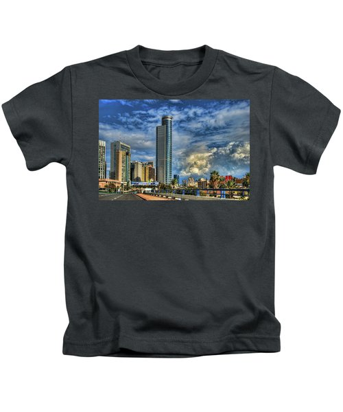The Skyscraper And Low Clouds Dance Kids T-Shirt