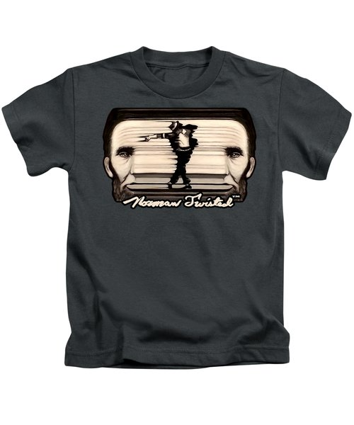 The Spaghettification Of Mike And Abe Kids T-Shirt by Norman Twisted