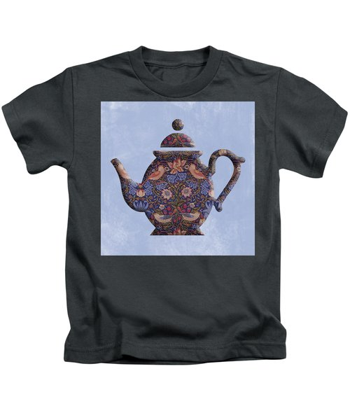 The Strawberry Thief Pattern Teapot Kids T-Shirt