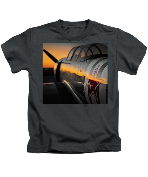 The Sun Setting On A Yak Kids T-Shirt
