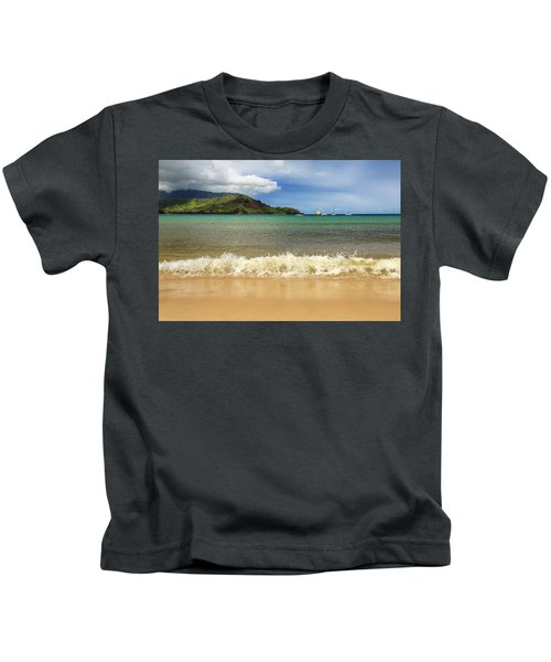The Surf At Hanalei Bay Kids T-Shirt