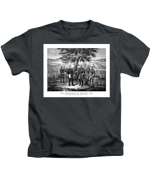 The Surrender Of General Lee  Kids T-Shirt