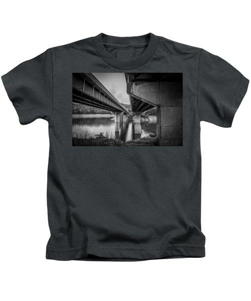 The Underside Of Two Bridges Kids T-Shirt
