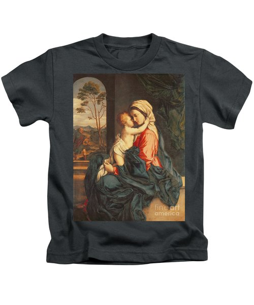 The Virgin And Child Embracing Kids T-Shirt