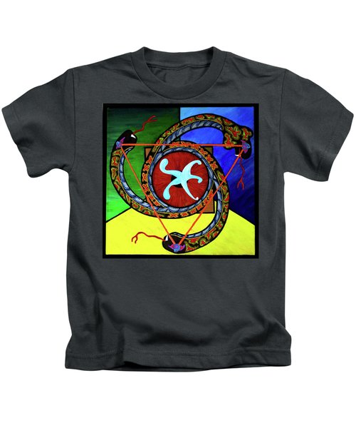 The Vitruvian Serpent Kids T-Shirt