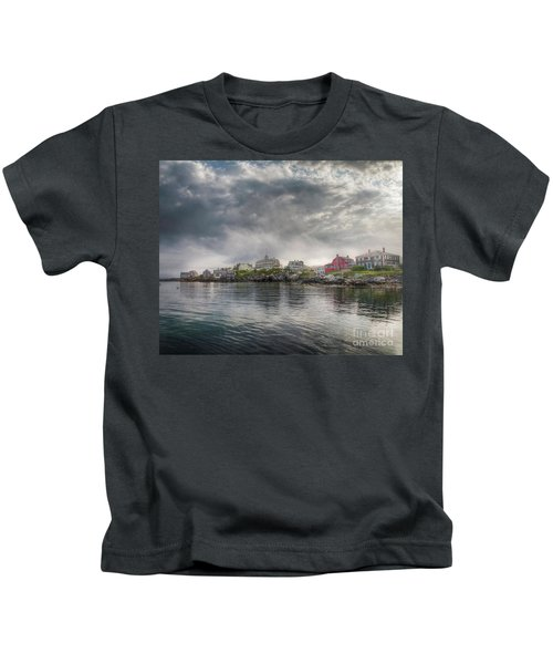 Monhegan Harbor View Kids T-Shirt