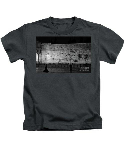 The Western Wall, Jerusalem Kids T-Shirt