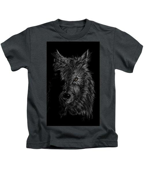 The Wolf In The Dark Kids T-Shirt