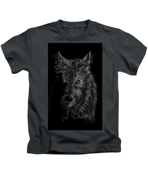 The Wolf In The Dark Kids T-Shirt